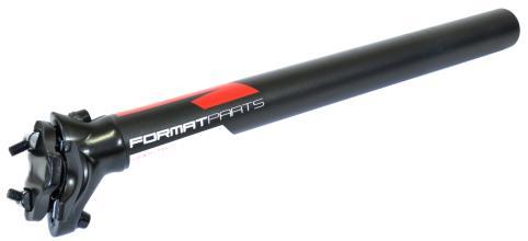 Подседельный штырь FORMAT KALLOY SP-DS1, черный, 30,4*350мм, бело-красная графика