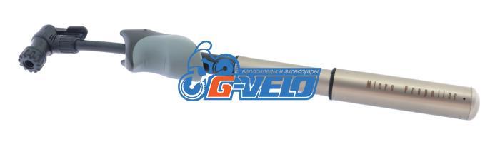 Велонасос GIYO GP-08OEM, алюминиевый, телескопический, выдвижной шланг, прорезин. ручка