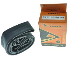 Камера 24 TRIX 24*1,95/2,125 автониппель AV 60мм, бутил