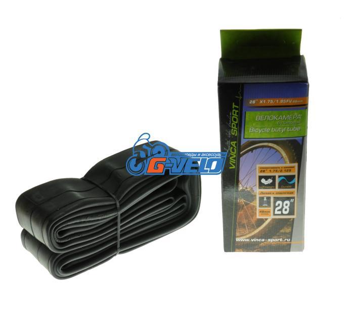 Камера 28 Vinca Sport, 28*1,75/1,95 автониппель AV, TUBE 28*1.75