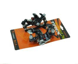 Тормоза дисковые механические, перед + зад, крепление РМ, с адаптерами под IS, черные, TL-001