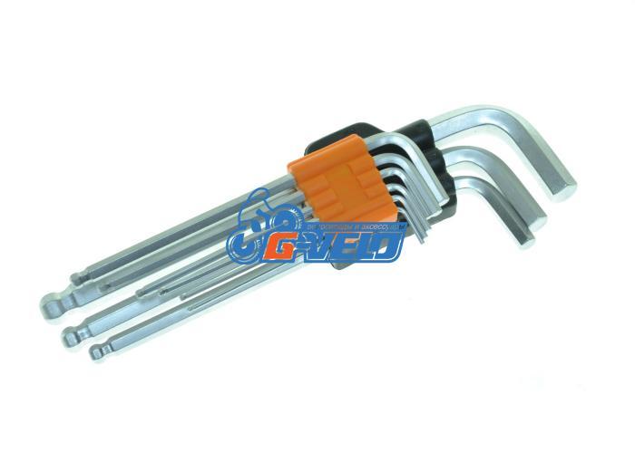 Ключи шестигранные в наборе 1.5/2/2.5/3/4/5/6/8/10мм - пластиковый держатель, KENLI, KL-9705A