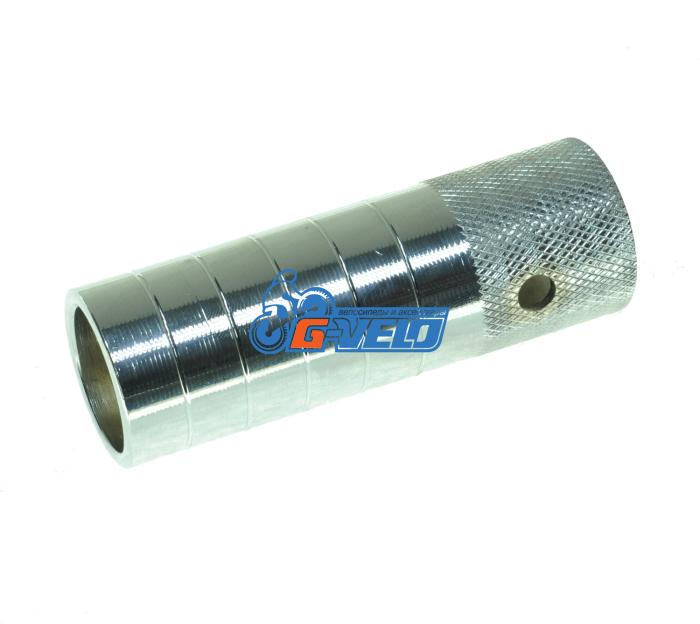 Пеги под ось 14 мм, 110 мм, стальные, серебристые, HS-02