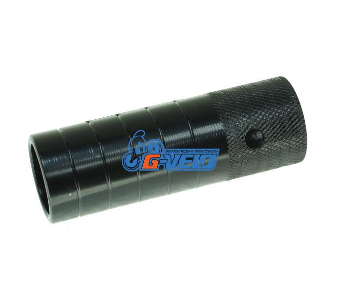 Пеги под ось 14 мм, 110 мм, стальные, черные, HS-02
