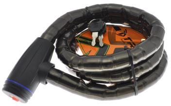 Велозамок TRIX (Размер:Ø25×1500 мм) стальной трос в пластиковой оболочке+ ключи, GK201.308 ключи С1