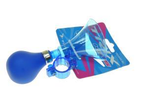 Клаксон пластик, резиновая груша, синий, XN-8-20