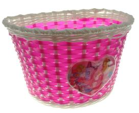 """Корзина детская 12"""" (розово-белая) 235х165х155 мм, BS02-1 (12"""")"""