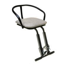 Кресло детское на раму, универсальное, подножки, сталь, мягкое сидень, черное