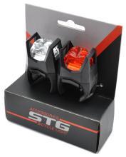 STG, Набор велосипедных фонарей JY-3005, 1 белый и 1 красный