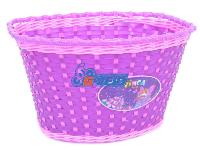 Vinca Sport, Корзинка детская на руль 20-24, цвет фиолетовый, 270x200x170мм, P04 Fairy Camille