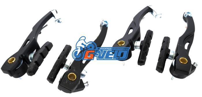 Тормоз V-brake, Vinca Sport, (две пары), алюм., 107мм, колодки 65мм, черные, VVB 15 black