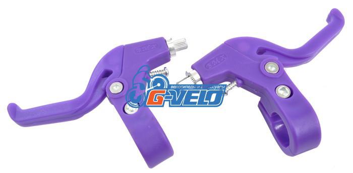 Тормозные ручки Vinca Sport, детские (пара), материал пластик/алюм, фиолетовые VB 61 violet