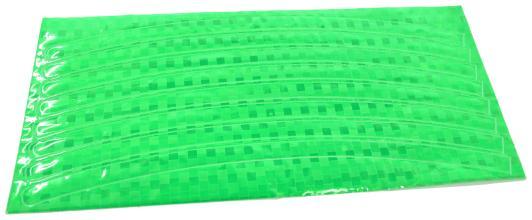 Vinca Sport, Набор светоотражающих накладок на обод велосипеда, цвет зеленый, 8 шт. STA 114 green