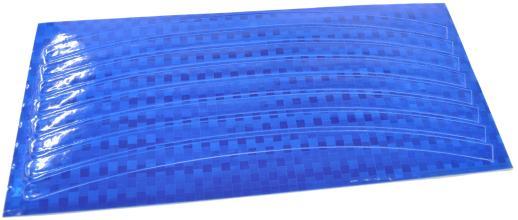 Vinca Sport, Набор светоотражающих накладок на обод велосипеда, цвет синий, 8 шт. STA 114 blue