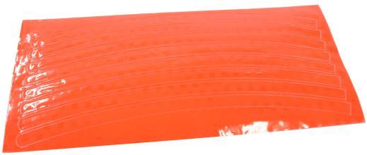 Vinca Sport, Набор светоотражающих накладок на обод велосипеда, цвет оранжевый, 8 шт. STA 114 orange