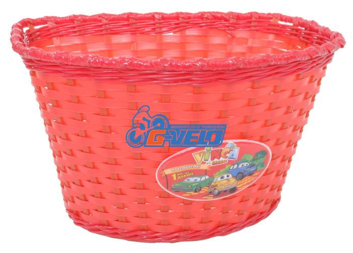 Vinca Sport, Корзинка детская на руль 20-24, цвет красный, 270x200x170мм, P04 Cars