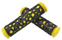 Грипсы резиновые SPORT черные/желтые 130мм
