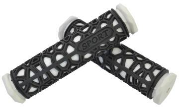 Грипсы резиновые SPORT черные/белые 130мм