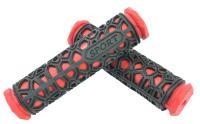 Грипсы резиновые SPORT черные/красные 130мм