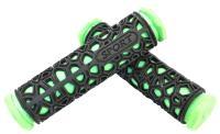 Грипсы резиновые SPORT черные/зеленые 130мм