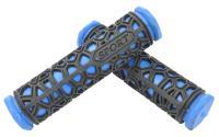 Грипсы резиновые SPORT черные/синие 130мм