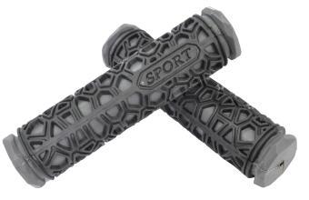 Грипсы резиновые SPORT черные/серые 130мм