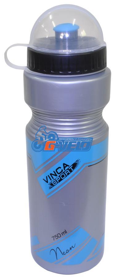 Vinca Sport, Фляжка 750мл серая, рисунок - синий, VSB 21-2 blue