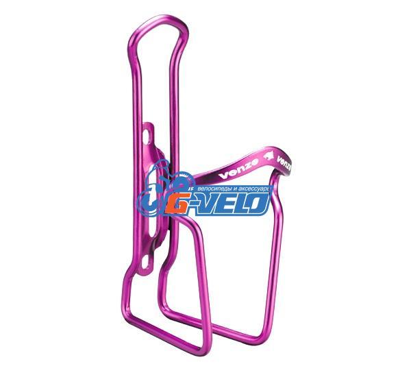 Флягодержатель VENZO алюминиевый фиолетовый, VZ-F14A-006