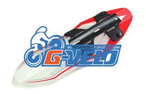 """Крыло переднее SunnyWheel SW-FX-119D, из лёгкого пластика на 24-26"""" на раму, красное/белое"""