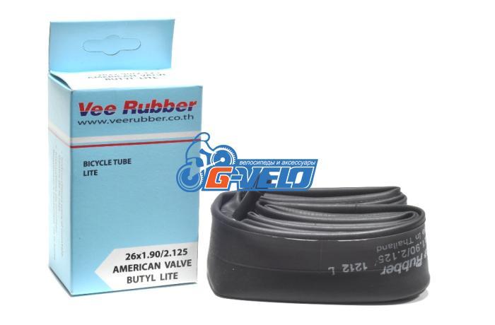 Камера 26 VEE Rubber PREMIUM LITE 26*1,90/2,125 AV автонипель, вес 139гр