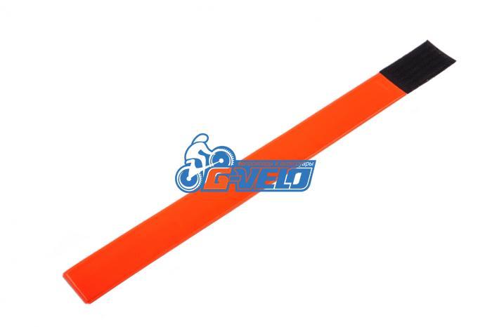 RBB 103-4 Светоотражающий браслет на липучке - оранжевый  цвет (3,8*40 см)