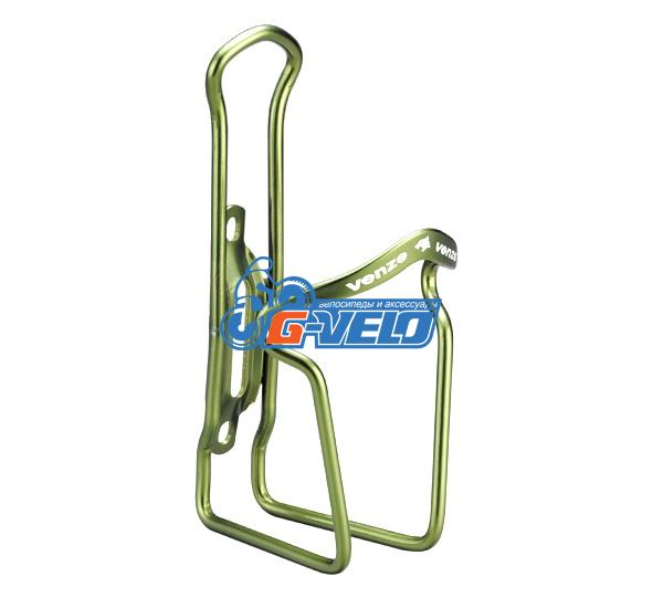 Флягодержатель VENZO алюминиевый зеленый, VZ-F14A-006