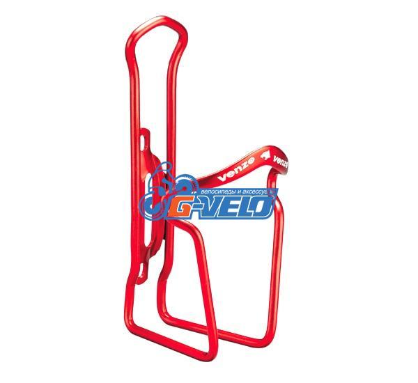 Флягодержатель VENZO алюминиевый красный, VZ-F14A-006