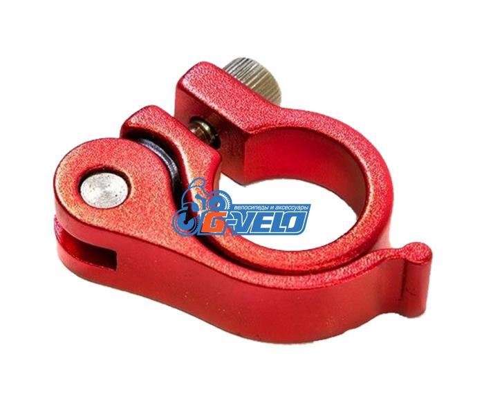 Эксцентрик подседельный с хомутом  ø 25.4 mm (Материал:алюм.;Цвет:red) AS-01+SQ-139