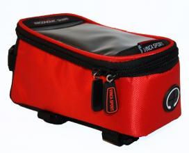 Vinca Sport, Сумка на раму, отделение для телефона, 195х100х100мм, красный FB 07-2 L red