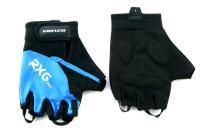 Велоперчатки VENZO VZ-F29-003 короткие пальцы, синие