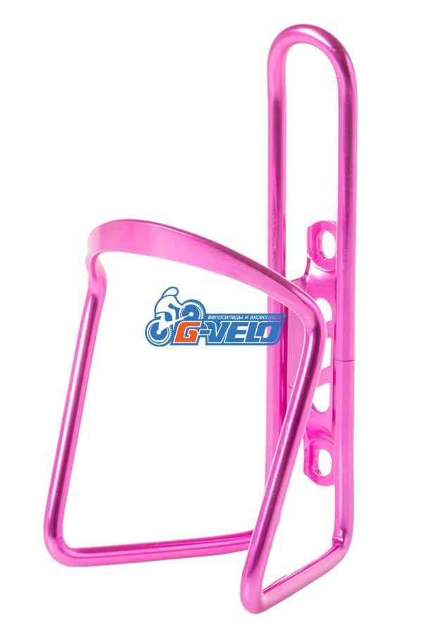 Флягодержатель алюминиевый Vinca Sport, в комплекте с болтами, розовый HC 11 pink
