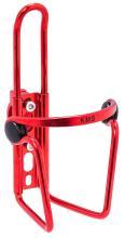 Флягодержатель KMS алюминиевый с крепежем на руль, красный