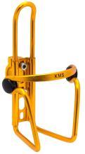 Флягодержатель KMS алюминиевый с крепежем на руль, золотистый