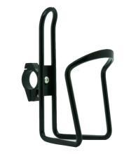 Флягодержатель TRIX алюминиевый с крепежем на руль, черный, H-C31