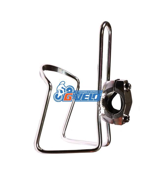 Флягодержатель TRIX алюминиевый, серебристый, крепление на руль, H-C32