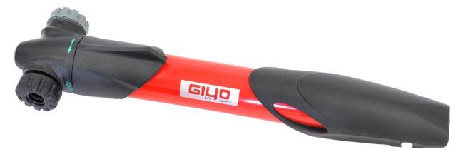 Велонасос GIYO GP-77 mini pump пластик, телескоп, Т-обр.ручка, красный