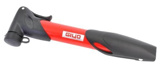 Велонасос GIYO GP-77Т mini pump пластик, телескоп, красный
