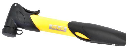 Велонасос GIYO GP-77Т mini pump пластик, телескоп, желтый