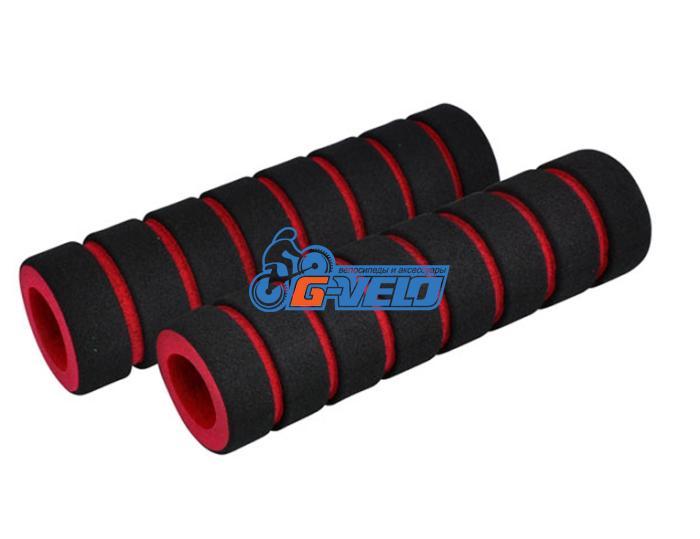 Грипсы поролоновые, цвет черно-красный 110 мм