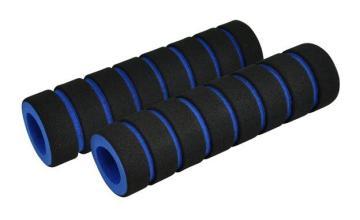 Грипсы поролоновые, цвет черно-синий 110 мм