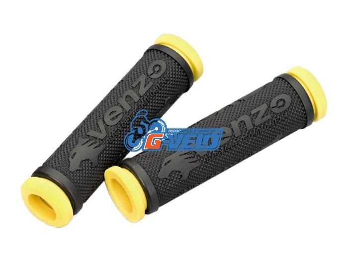 Грипсы резиновые VENZO черный/желтый VZ20-E05-003