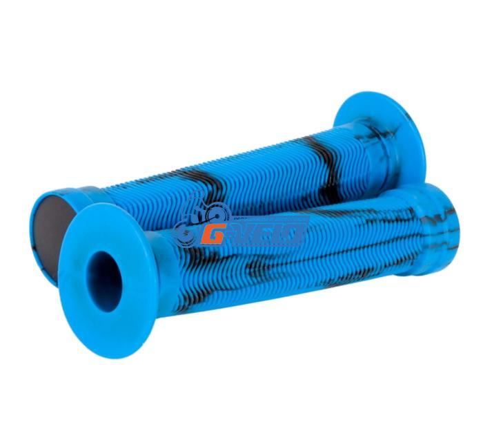 Грипсы STG, 150мм черные/синие