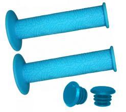 Грипсы Vinca Sport, 120 мм, голубые, H-G 60 light blue