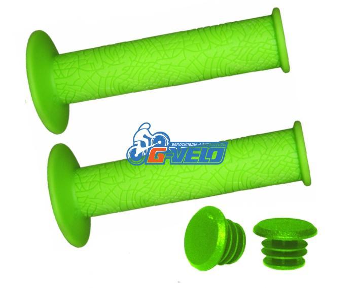 Грипсы Vinca Sport, 120 мм, зеленые, H-G 60 light green